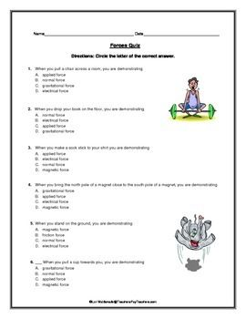 force and motion forces quiz physical science resources rh pinterest com Motion and Gravity Game Motion and Gravity Game