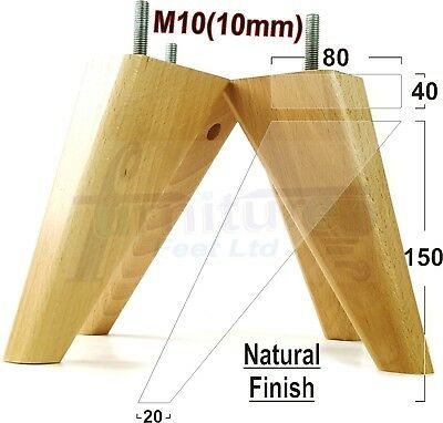 4x Wooden Feet Furniture Legs 150mm High Sofas Chairs Settees Footstools M10 Patas De Muebles De Madera Patas De Mesa Madera Medidas De Sillones