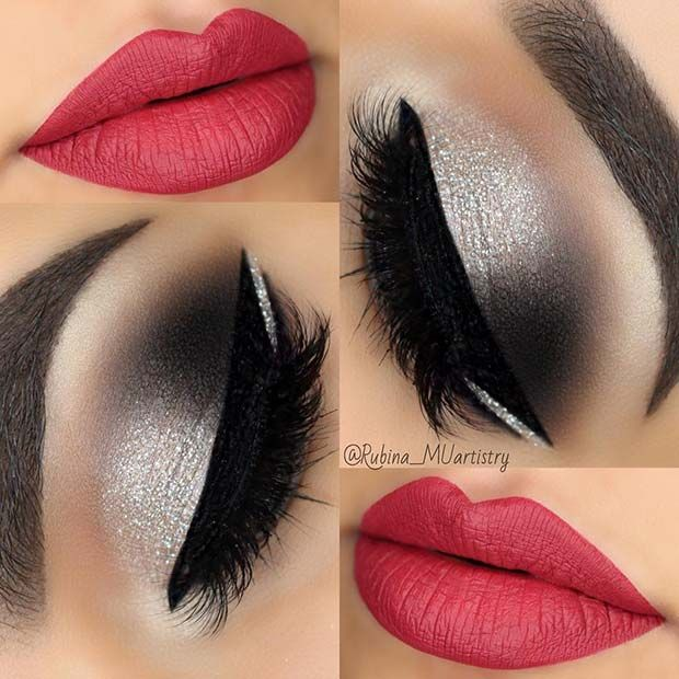 45 Glamorous Makeup Ideas for New Year's Eve | Page 3 of 4 | StayGlam #prettymakeup