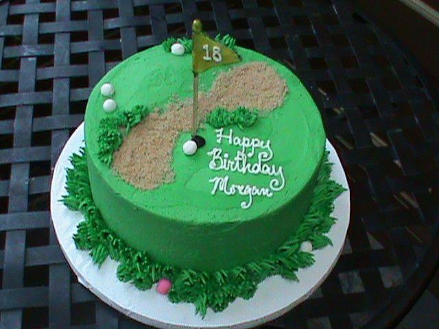 18th Birthday Golf Theme Cake1 Golf Theme Artisan Kitchen And