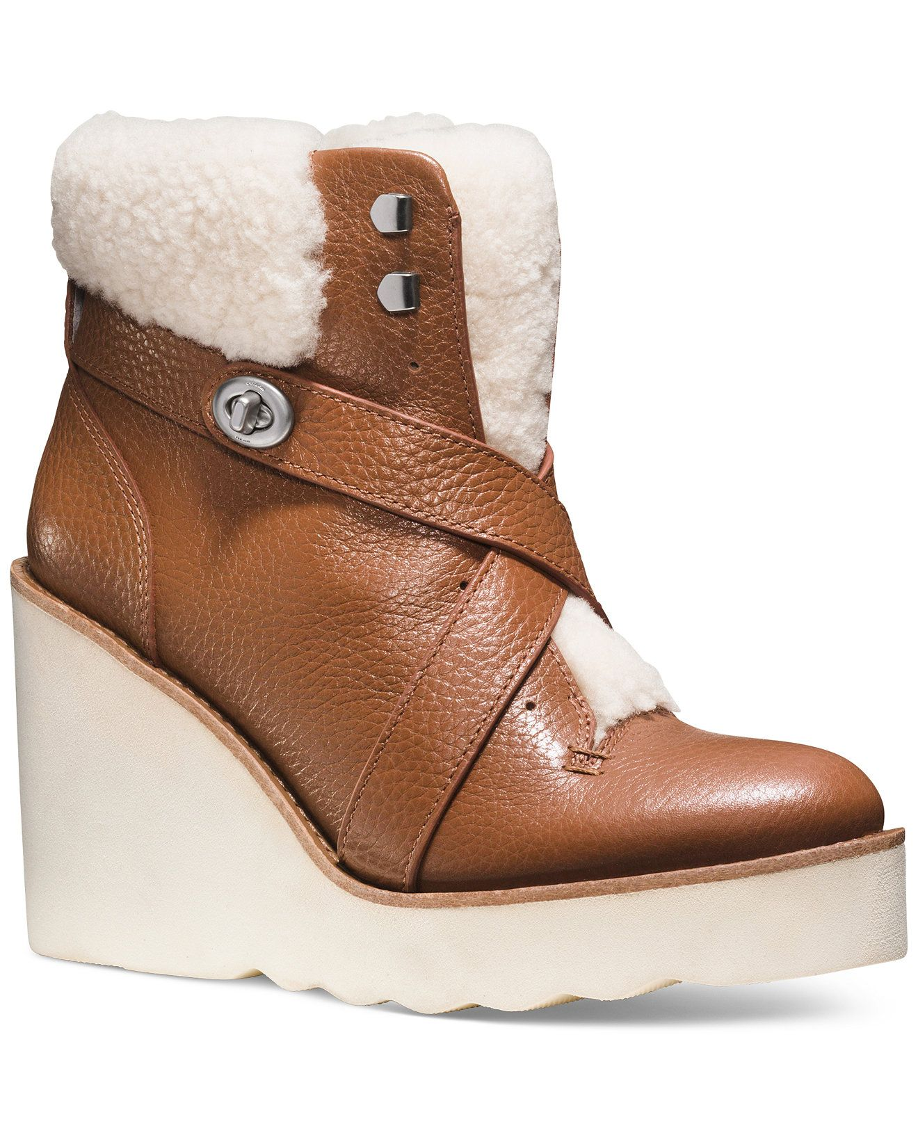 ... greece coach kenna cold weather wedge booties boots shoes macys e8f2b  b5c19 ... b4fb470d0d06