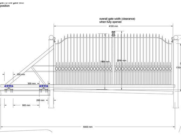 4C3 Residential Cantilever Sliding Gate Drawing 600x450 GateGate DesignSliding Door