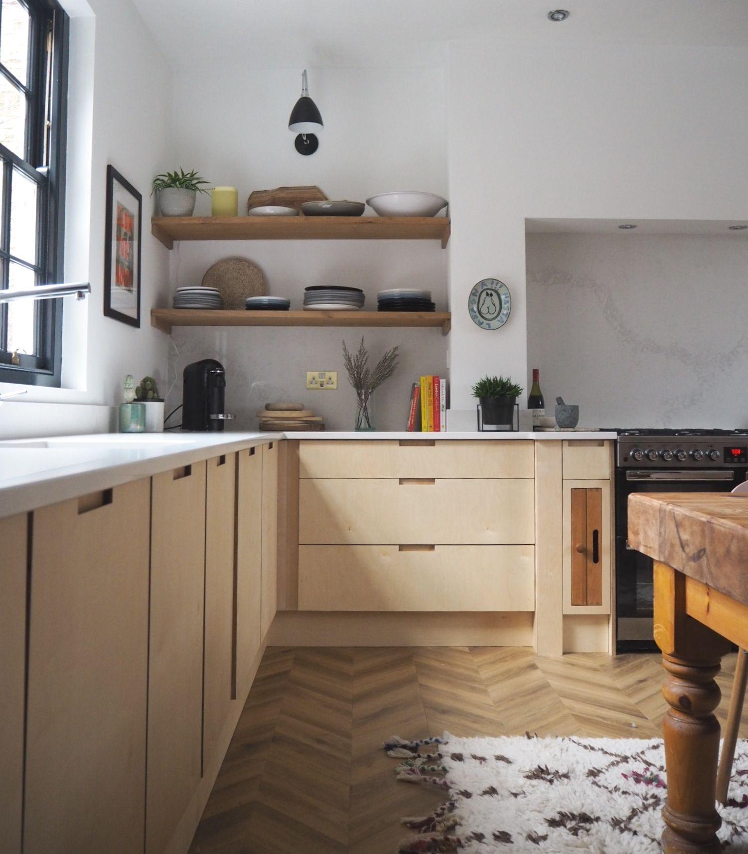 Plywood kitchen, Kitchen design small, Kitchen design