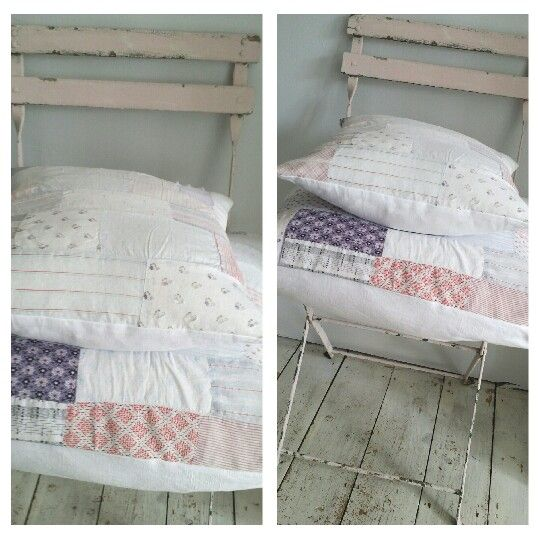 Beautiful cushions made from a gorgeous quilt