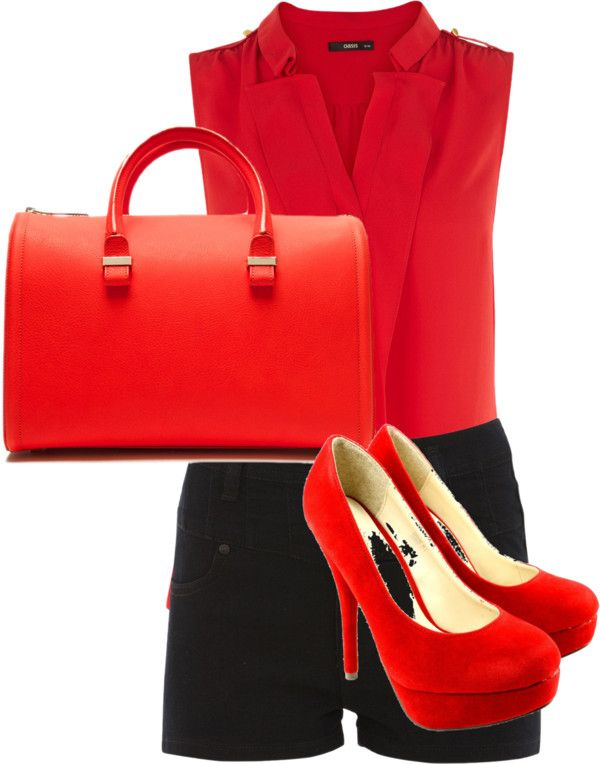 """Red"" by edinisyafitri on Polyvore"