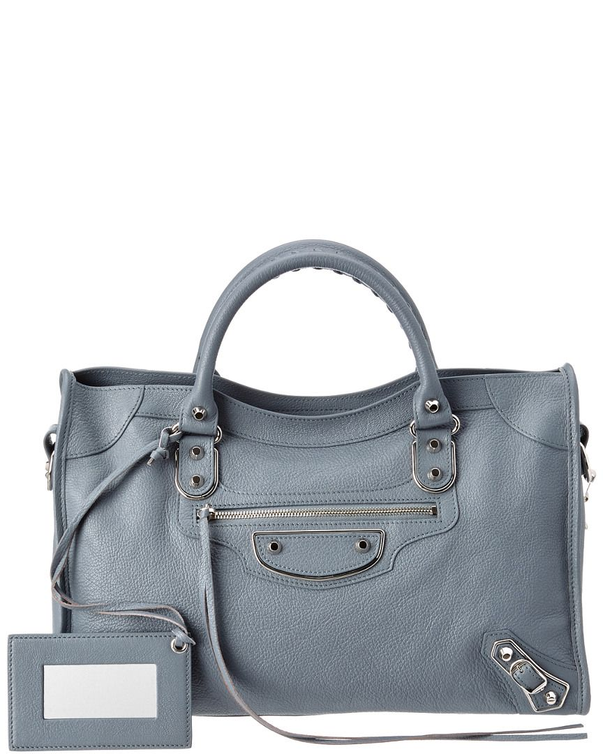 f043994a8c Balenciaga Classic Metallic Edge City Medium Leather Satchel ...