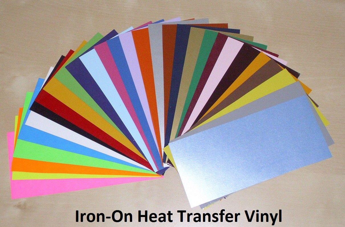 10 Sheets Of 12 X 15 Heat Transfer Vinyl Assorted Colors Heat Transfer Vinyl Iron On Vinyl Heat Transfer