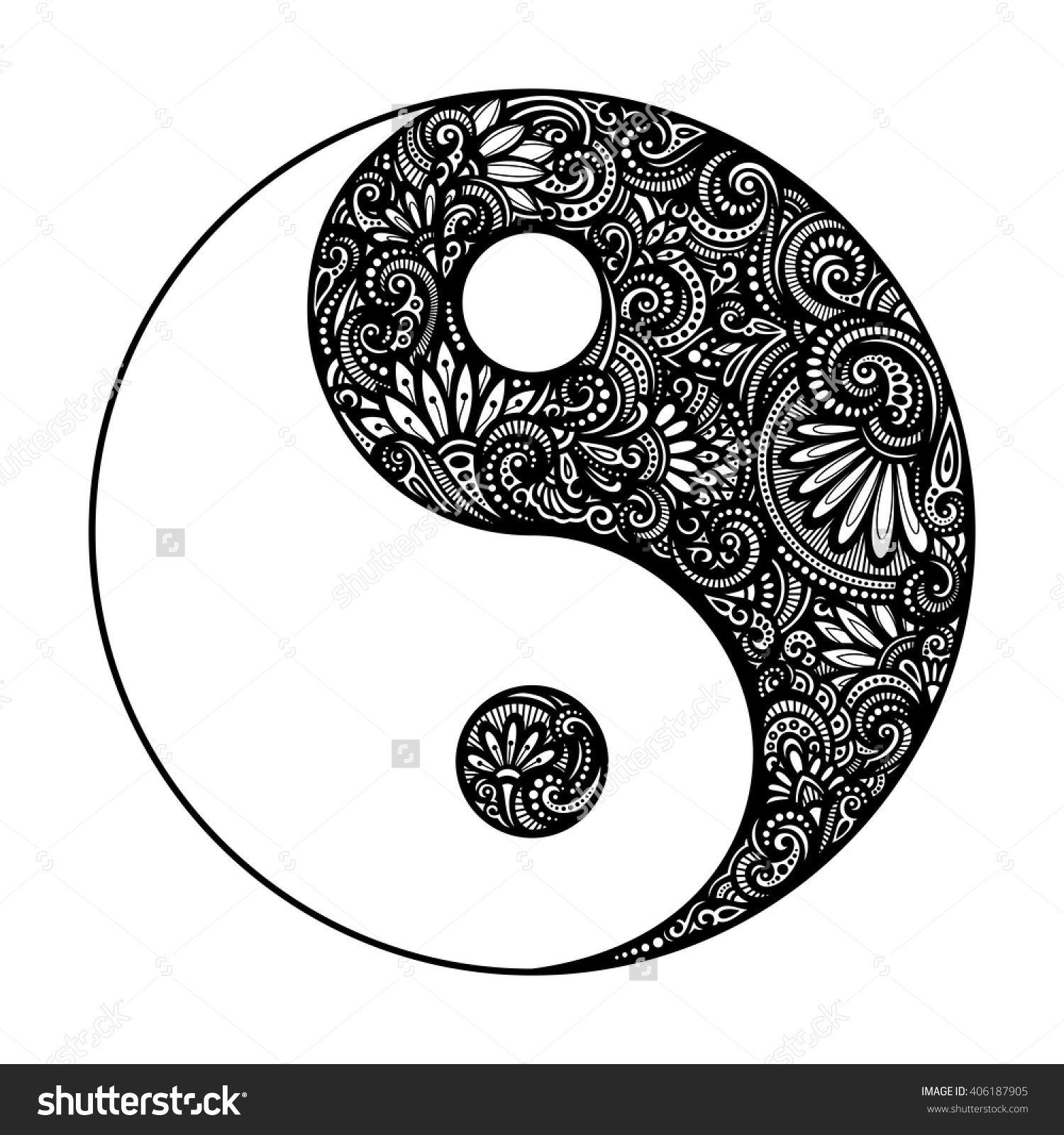 Image Result For Yin Yang Tatoo Desenho De Mandala Tatuagem Yin Yang