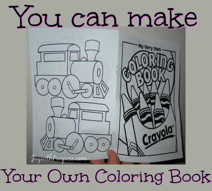 You Can Make Your Own Coloring Book | HANDMADE TOYS - Upcycle and ...