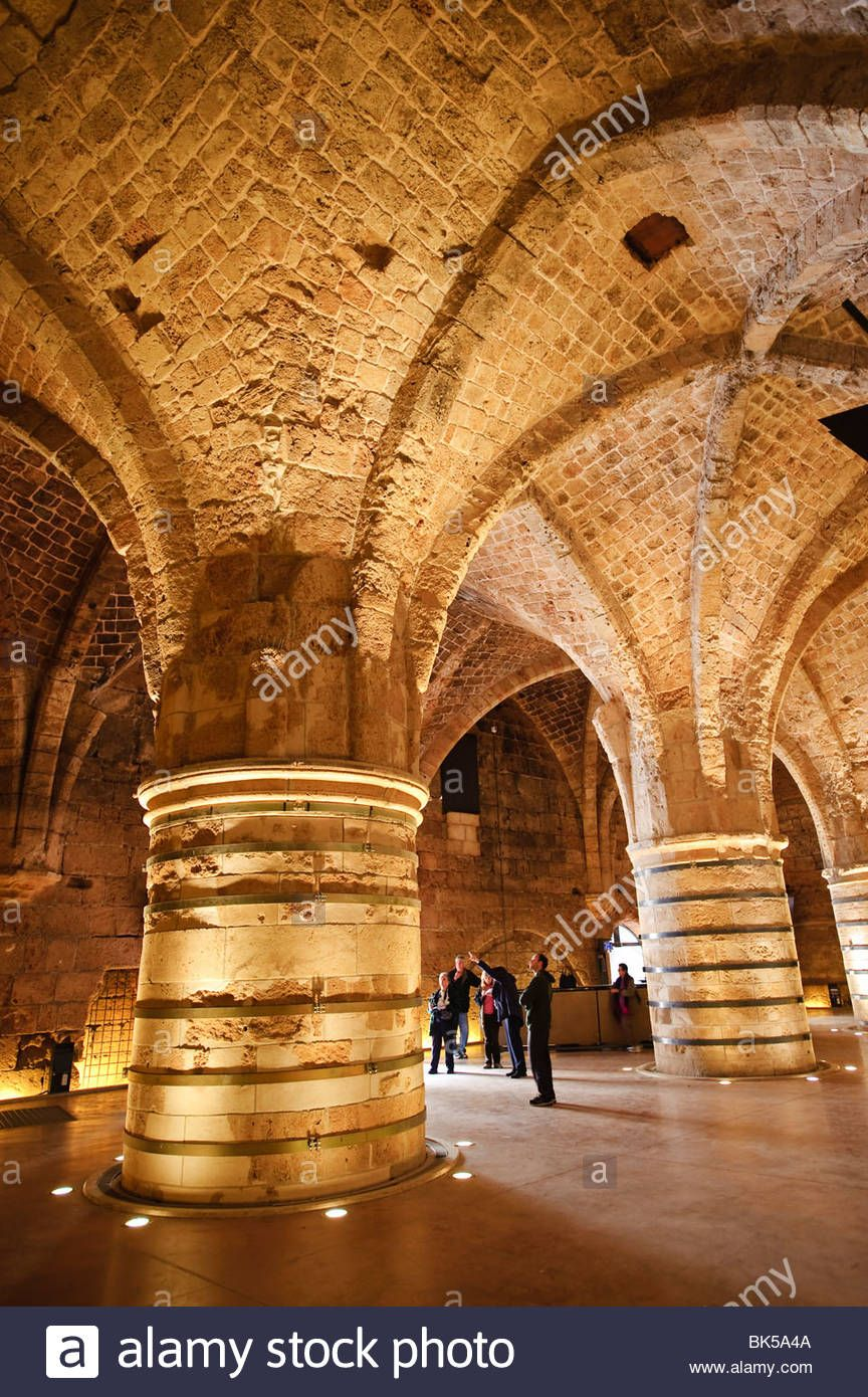 *ISRAEL ~ Interior of the Crusader Castle. Akko (Acre). Israel. Middle East | Israel history. Israel. Israel palestine