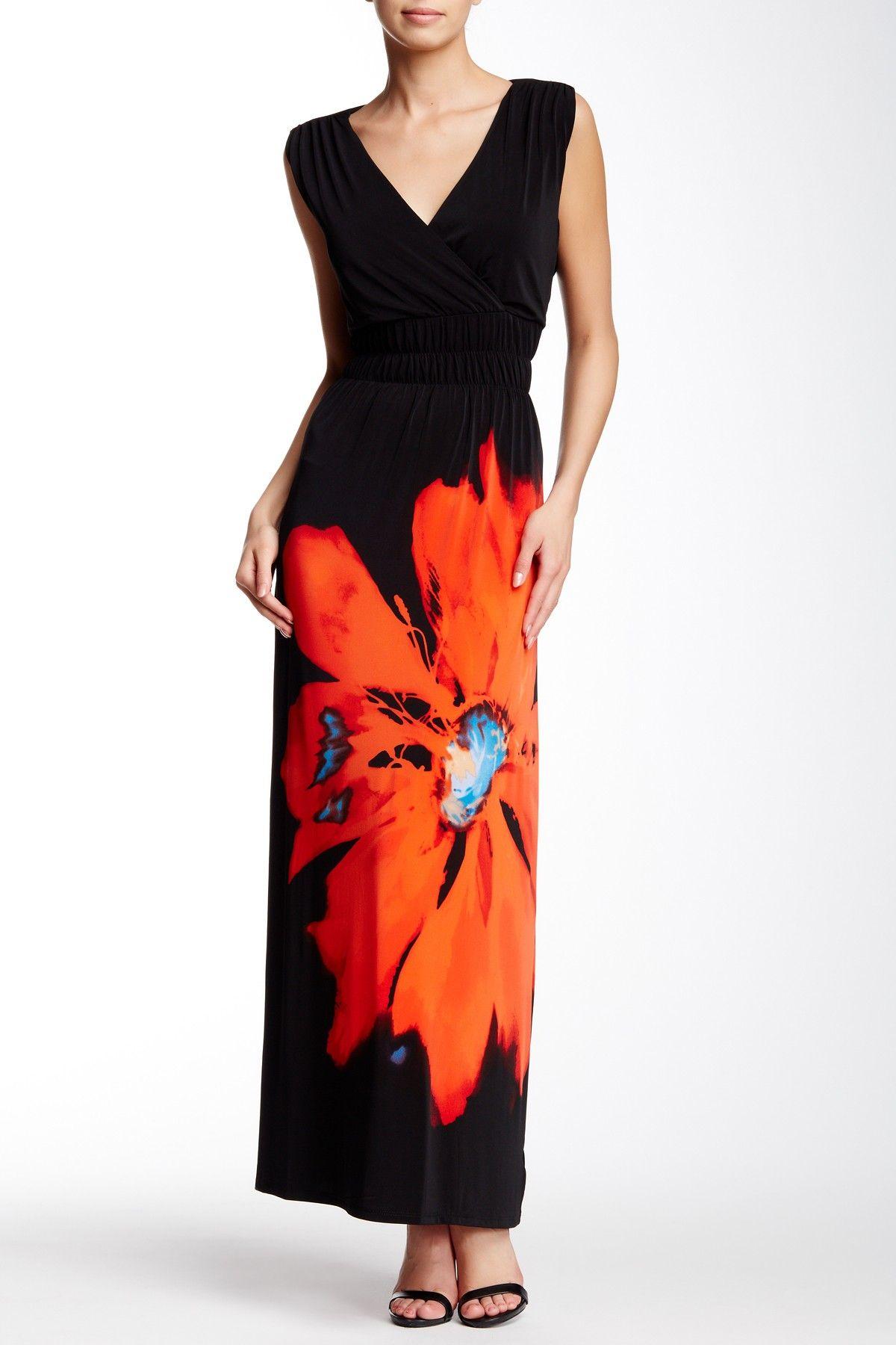 On Hautelook Nina Leonard Surplice Maxi Dress Maxi Dress Dresses Nina Leonard [ 1800 x 1200 Pixel ]