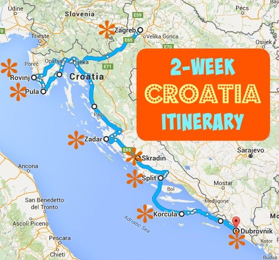 Croatia Itinerary A Complete Guide To 2 Weeks In Croatia Croatia Itinerary Croatia Travel Croatia