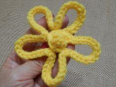 Flor # 7 del Vestido para niña Crochet
