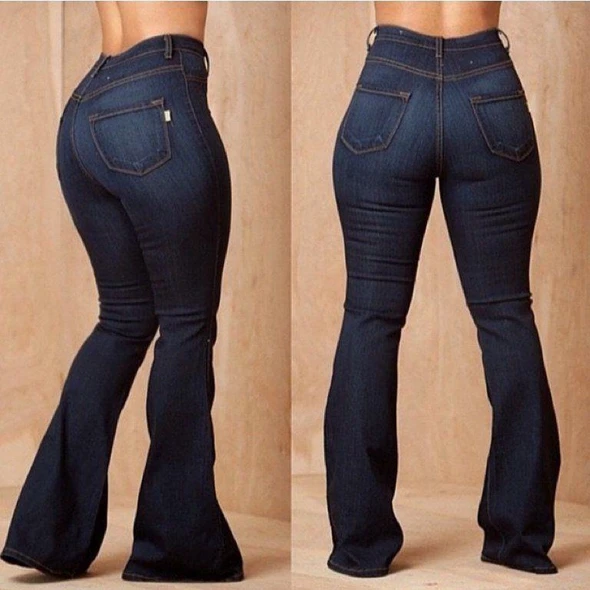 Photo of Skinny jeans Wide Leg Trouser Jeans