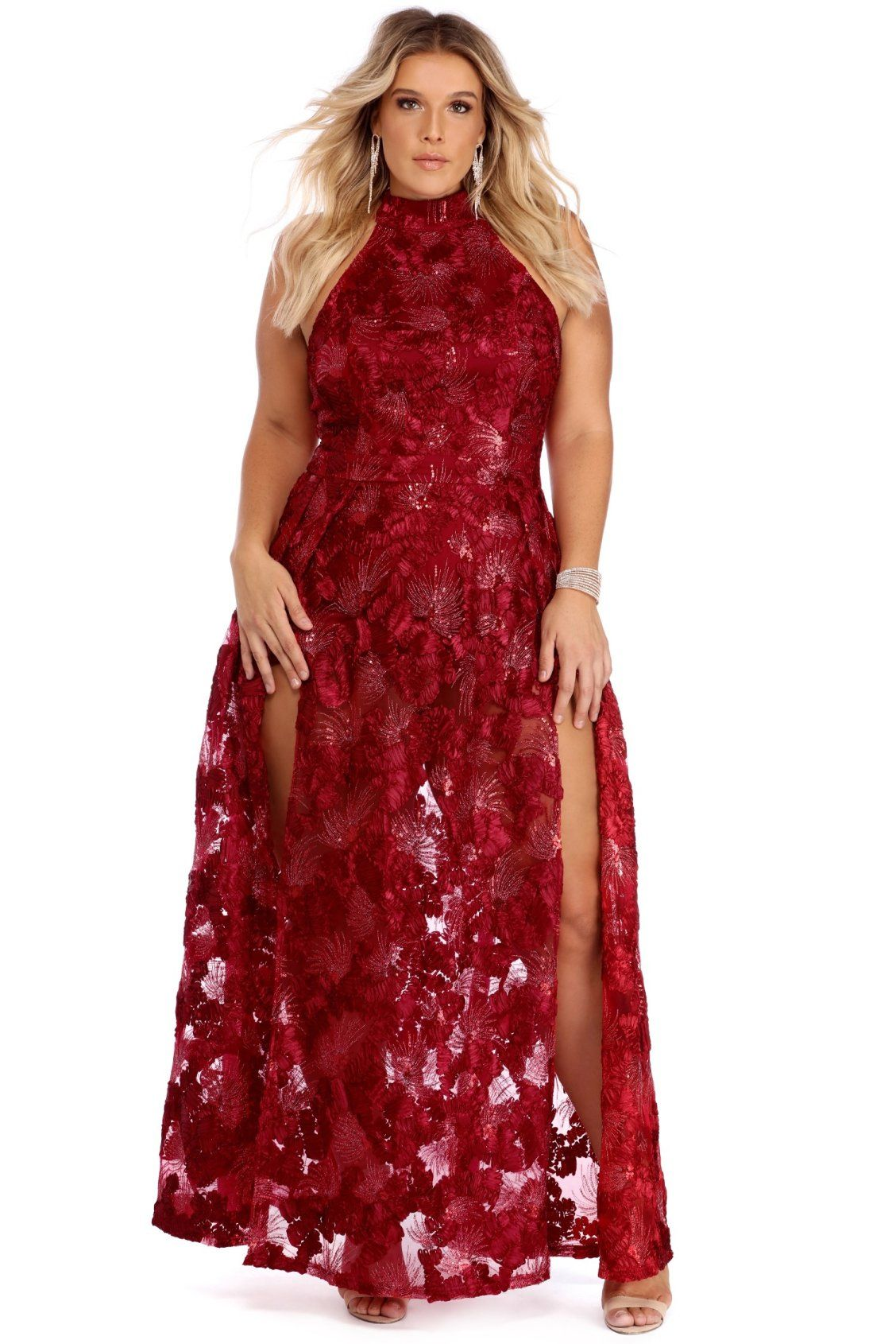 3275b8a01ff Plus Kalea Burgundy Fiery Sunset Dress | Windsor Plus | Dresses ...