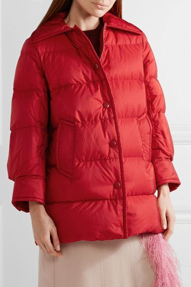 83a1a763a Prada - Quilted Shell Down Jacket - Red | Down Jackets | Jackets ...
