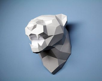 DIY Polygonal Fierce Leopard Head