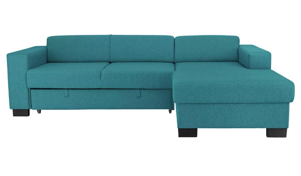 Buy Argos Home Ava Fabric Corner Sofa Bed Teal Sofa