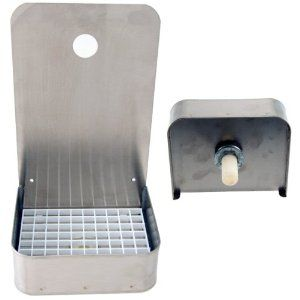 6 Wall Mount Drip Tray Tall Stainless Steel With Drain By Kegworks Com 58 99 Solid Construction Includes A Drai Kegworks Drip Tray Faucet
