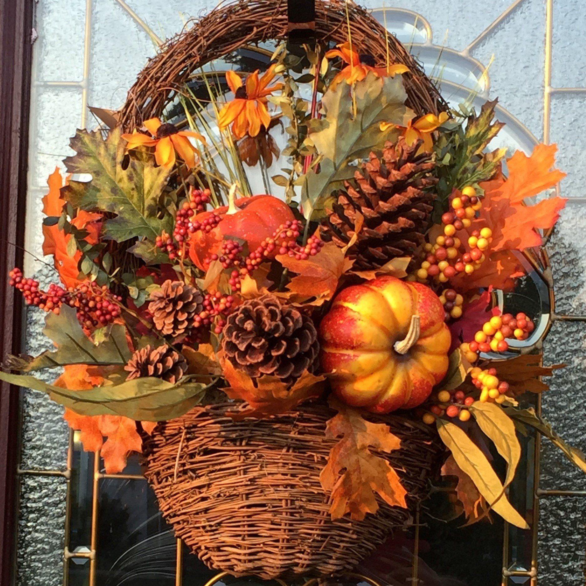 The Oily Essentials Custom Made Arrangments Autumn Thanksgiving Basket