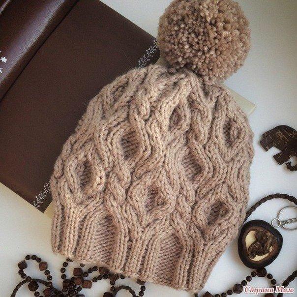 Вяжем зимнюю шапочку   СПИЦЫ - шапки, шарфы, варежки и т.п ...