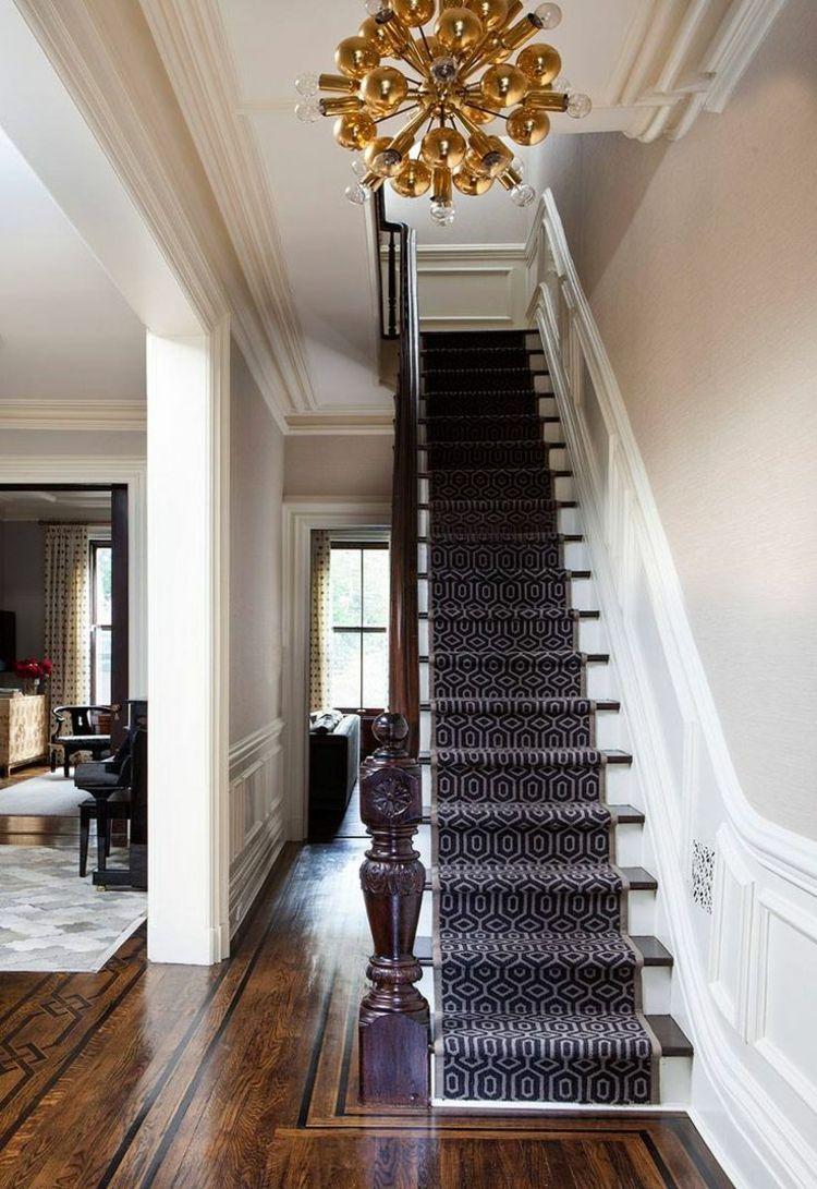 Teppichläufer Treppe treppen teppich läufer edel hoz geländer antik altbau parkett