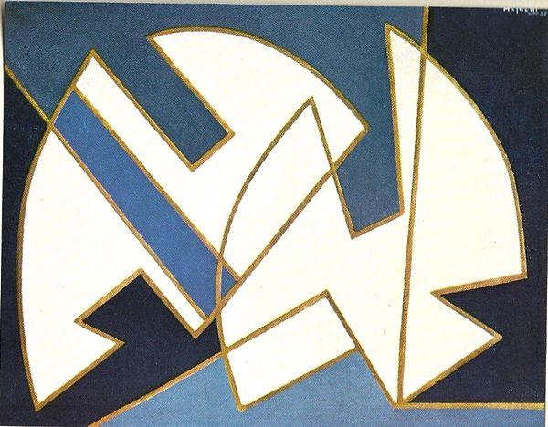 Alberto Magnelli par André Verdet, 1968 Composition, 1955 Huile sur toile, 0,73 x 0,92cm Collection Particulière