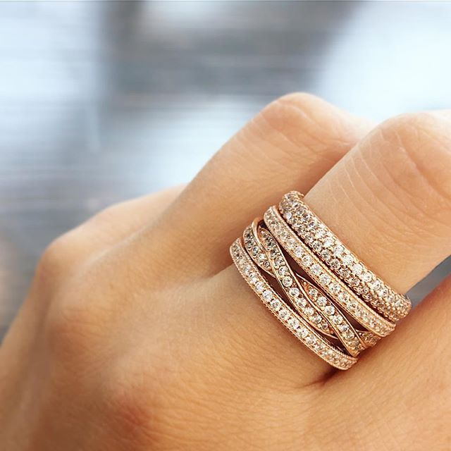 Rise & shine...literally.  I love this PANDORA Rose stack ...