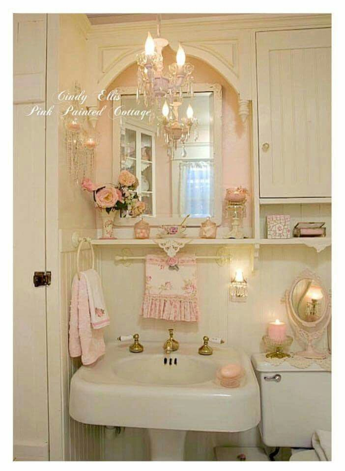 Shabby chic shabby chic pinterest deco romantique for Salle bain chic