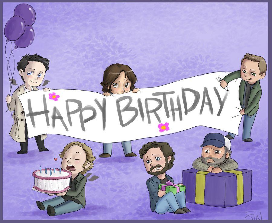 Spn Cartoon Bday Supernatural Happy Birthday Supernatural Birthday Supernatural Funny