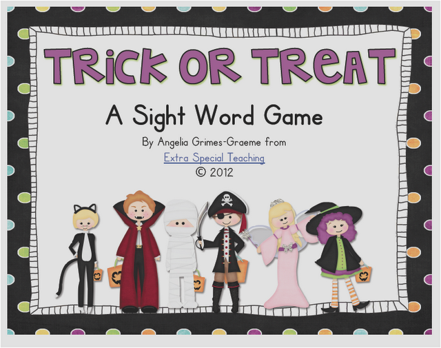 Trick or Treat - A Sight Word Game for Kindergarten & 1st Grade
