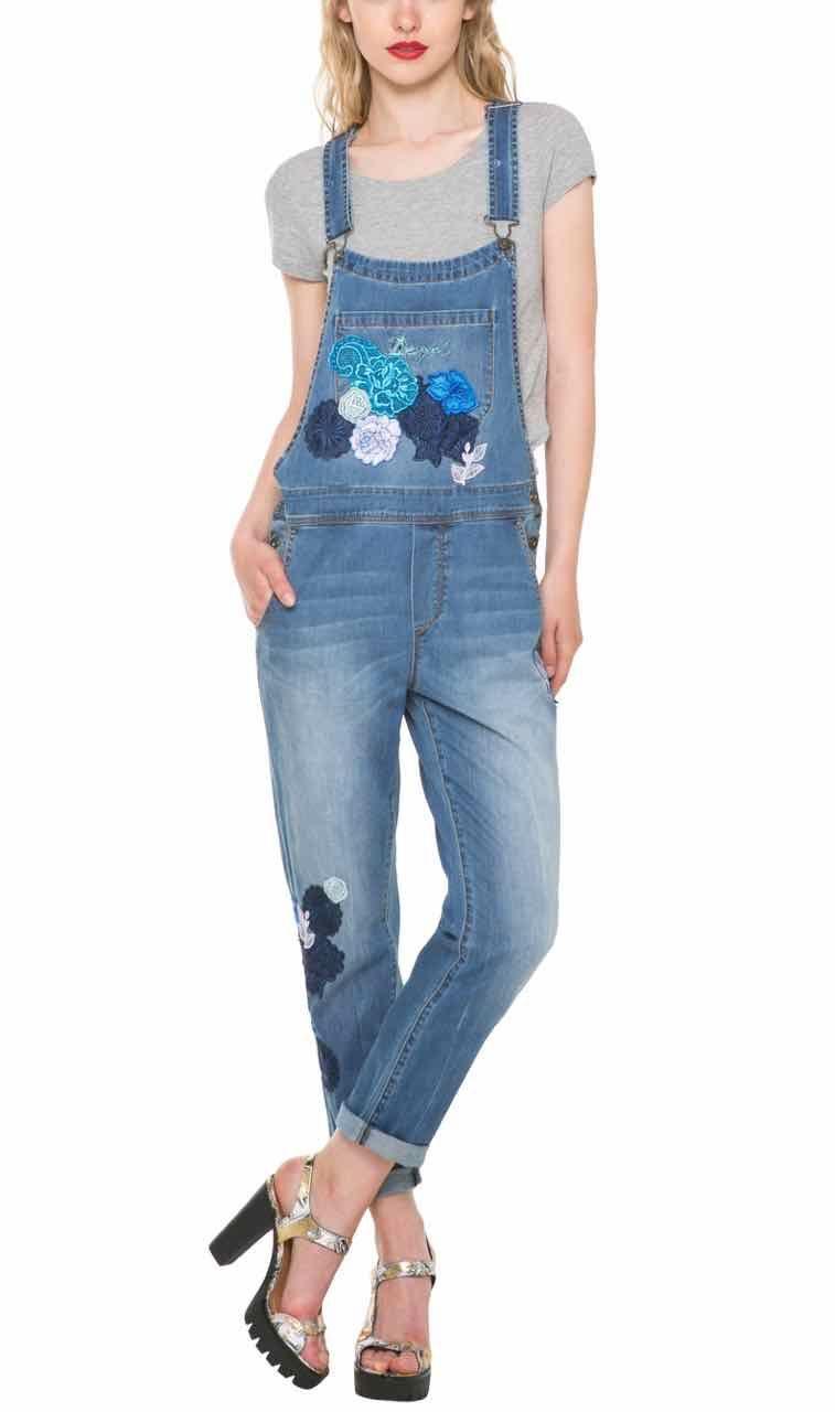 61D26B5 5160 Desigual Jean Overall Blondie Buy Online  40e18beeda