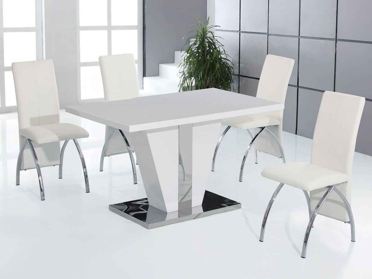 Weisser Tisch Braun Stuhle Glas Tisch Und Stuhle Weiss Tisch 6