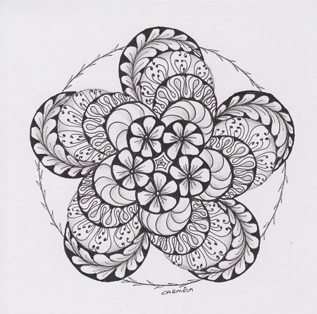 Zentangle/Zendala Lover: maart 2013