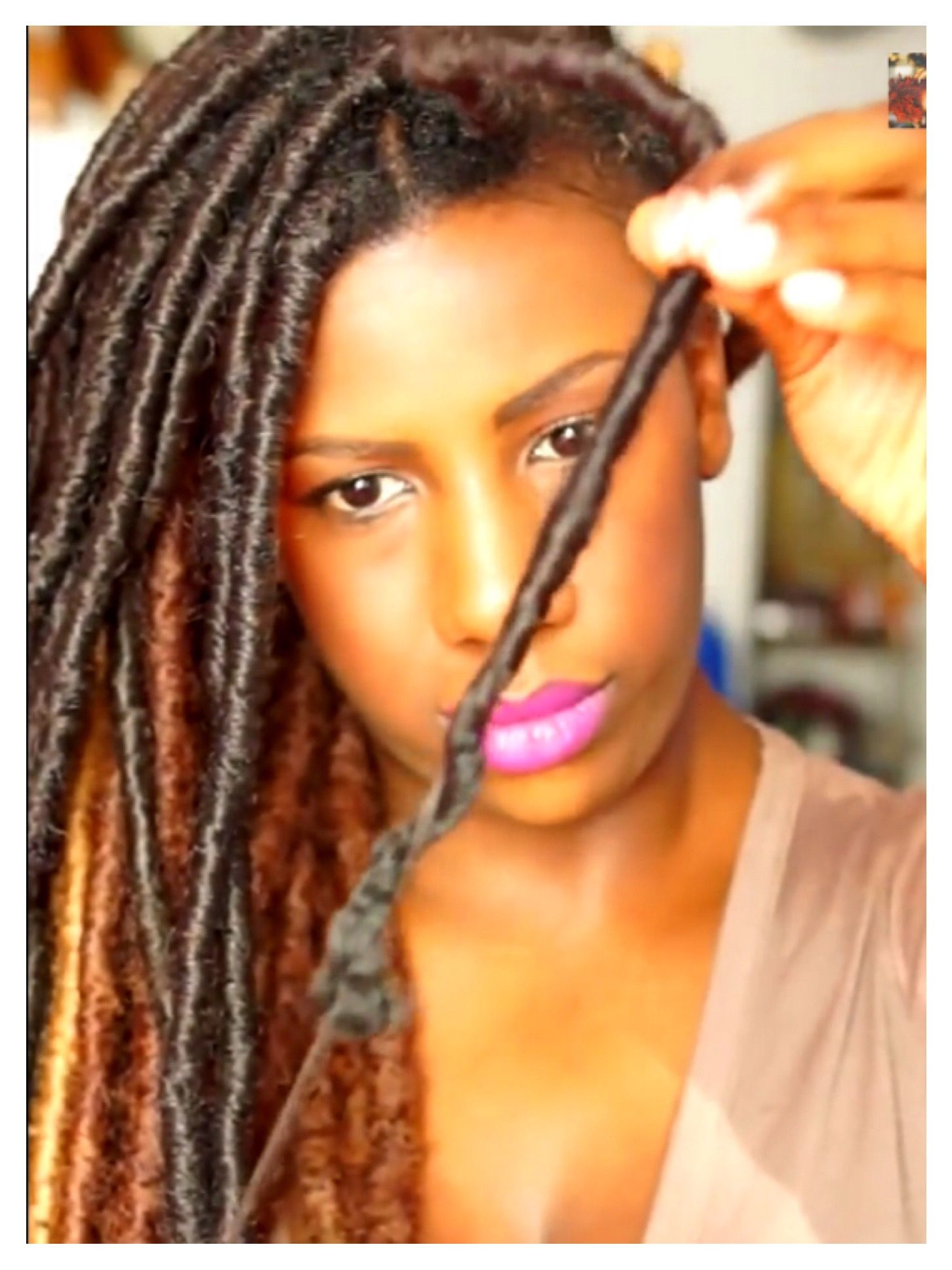 2 Ways To Take Down Faux Locs Quickly And Without Breakage Natural Hair Styles Hair Styles Long Hair Girl