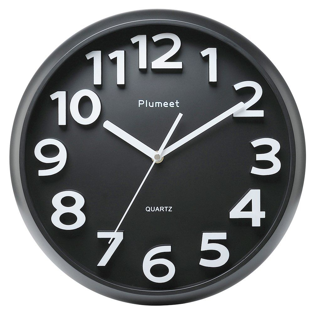 Large Number Wall Clock Plumeet 13 Silent Nonticking Quartz Decorative Wall Clock Modern Style Good Large Number Wall Clock Large Wall Clock Wall Clock Silent