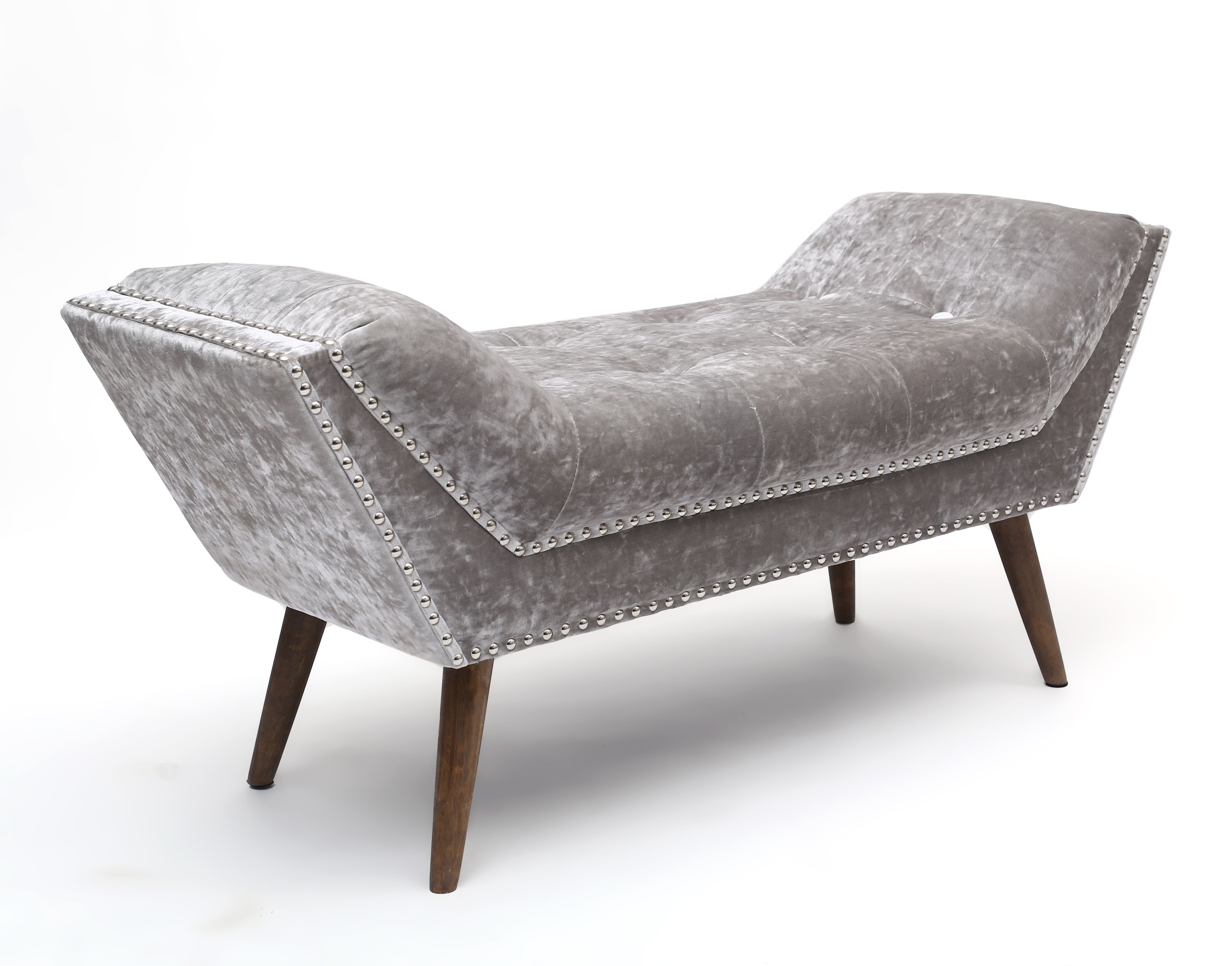 The Mulberry Crushed Velvet Chaise Is A Funky Style Seating Solution With Distinctly
