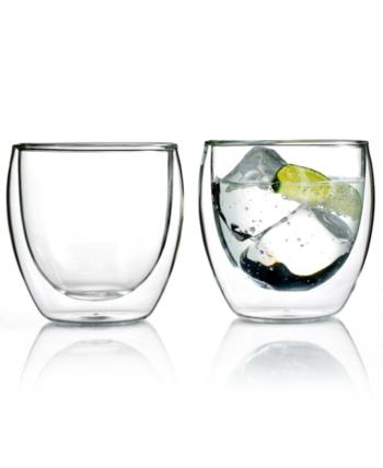 BODUM DOUBLE WALLED 8.5OZ GLASSES