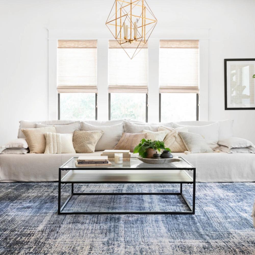 kennedy denim rug in 2020  living room decor living room
