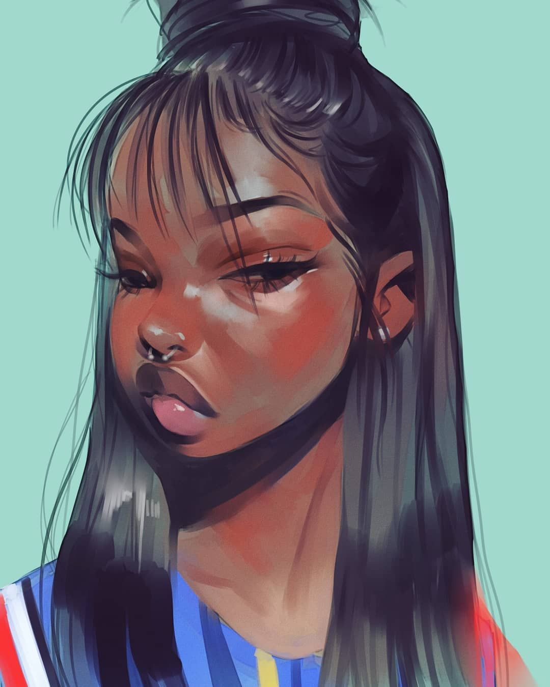 Aaliya July X On Instagram Photo Study In My Style Tag The Person In The Photo Also In 2020 Black Girl Magic Art Black Girl Art Black Girl Cartoon