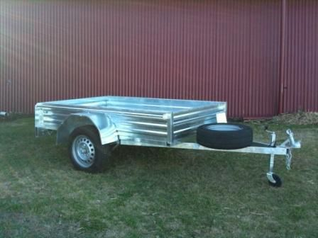Galvanised, single axle box trailer  http://usedtrailers.com.au