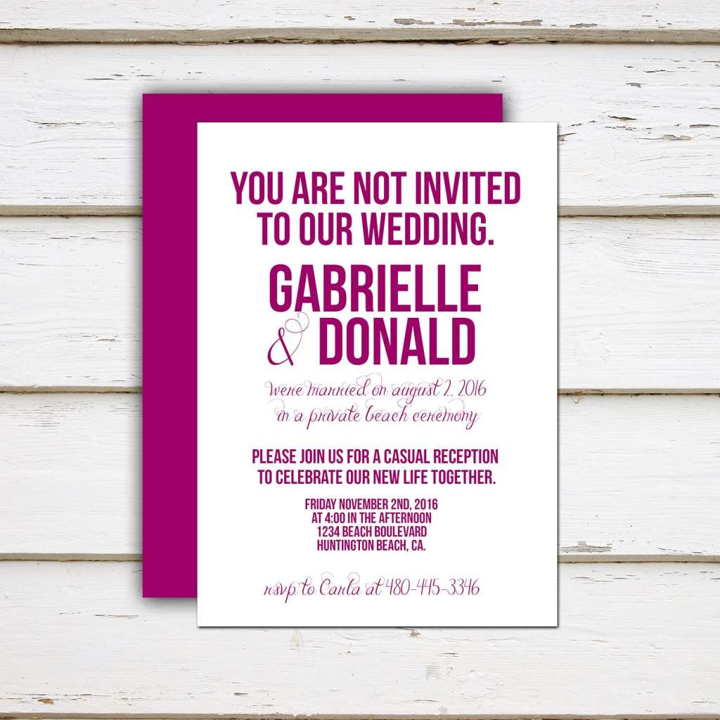 Funny Beach Wedding Invitation Wording Wedding Invite Wording Funny Funny Wedding Invitations Wedding Invitation Wording Examples