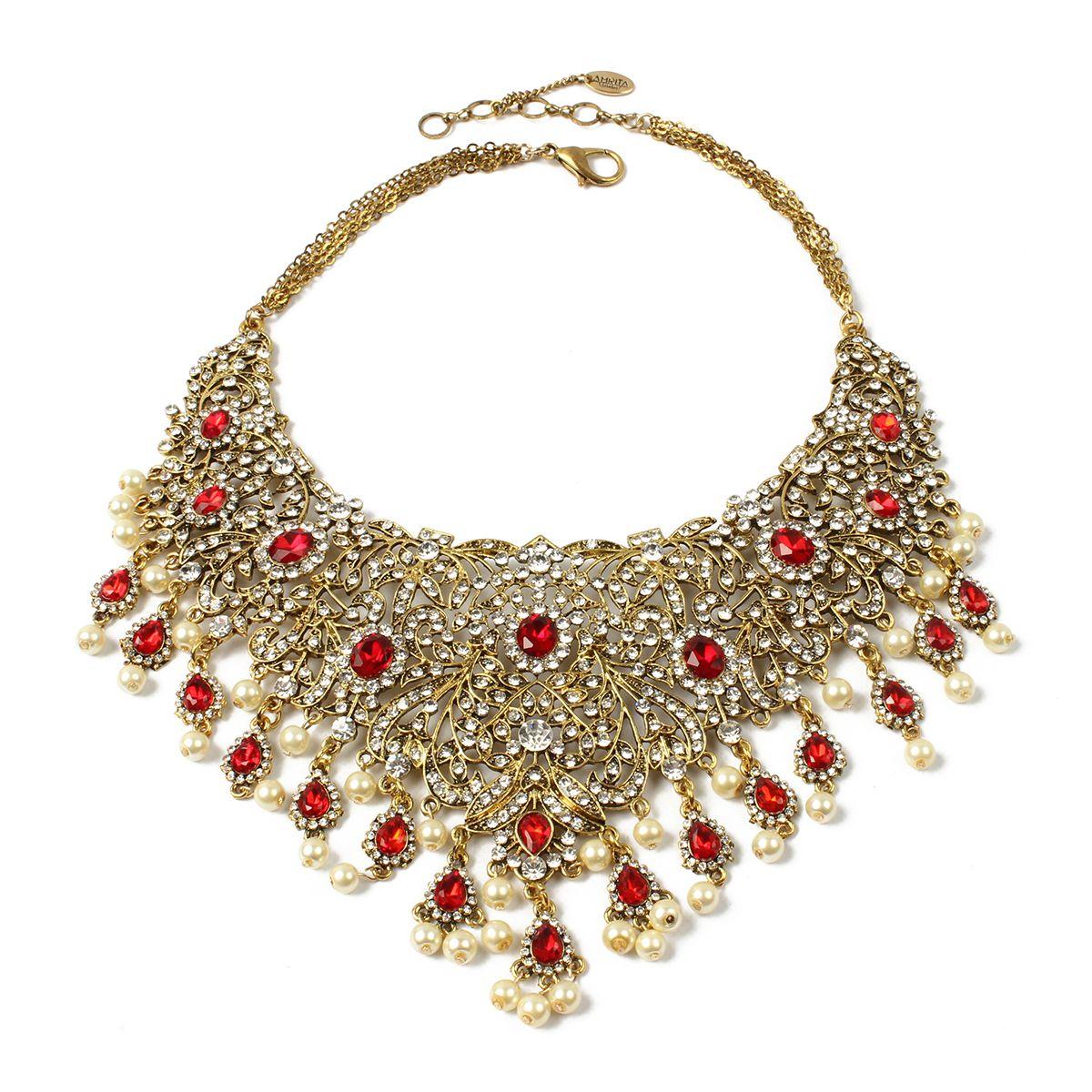 Gayatri necklace jewelry pinterest austrian crystal antique