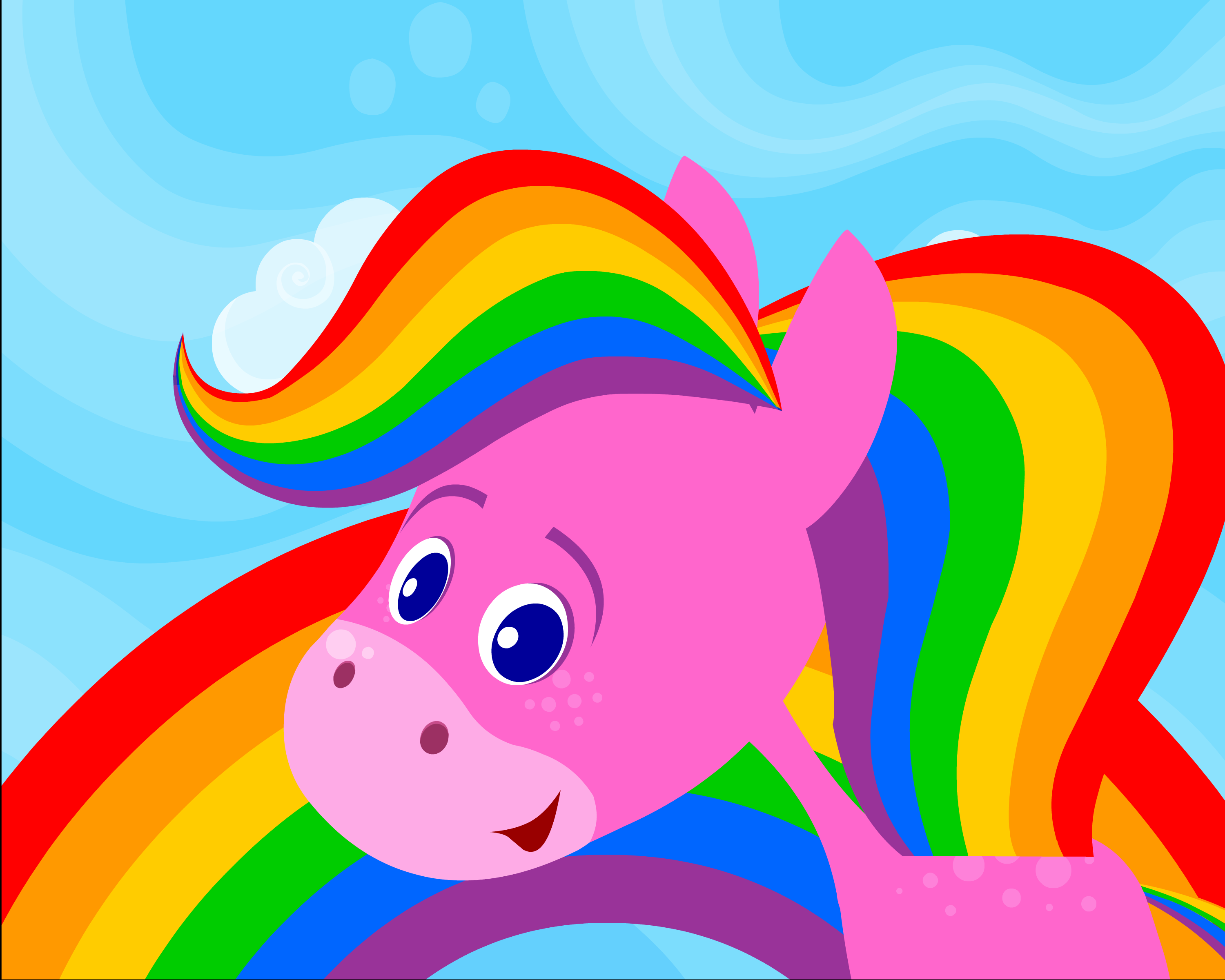 Rainbow Horse saddle up for a colorful journey as