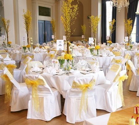 Yellow Table Decorations