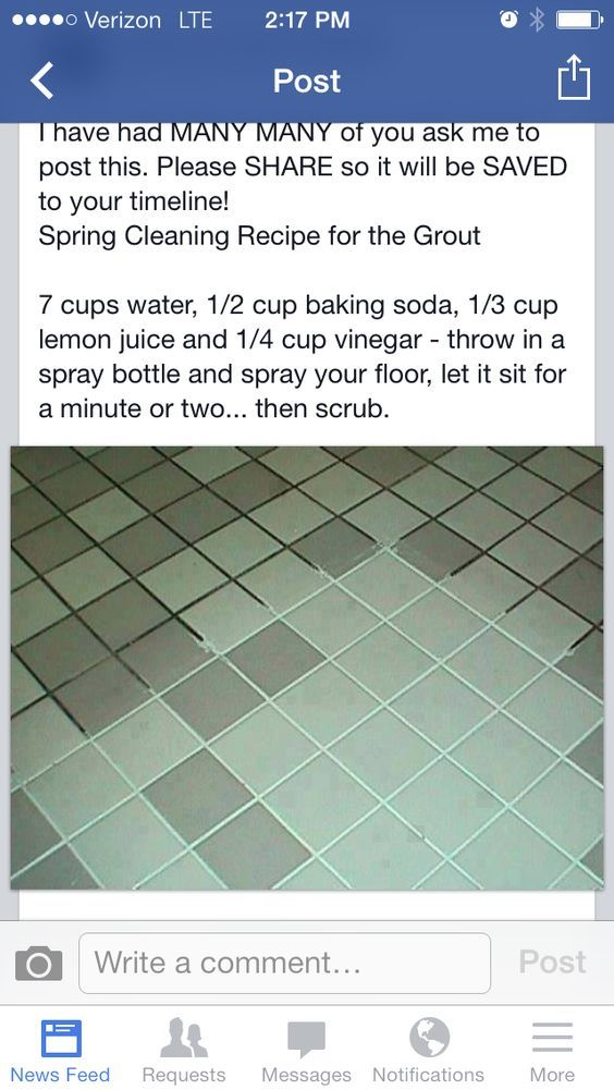 Grout cleaner: