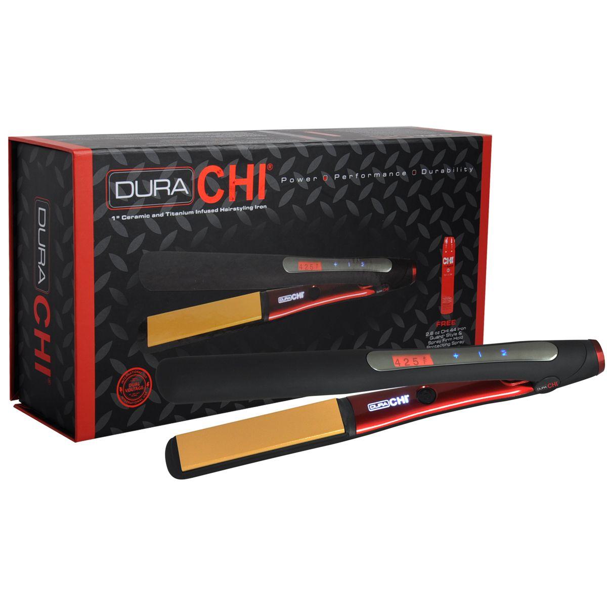 Dura Chi 1 Ceramic Titanium Hairstyling Iron Chi Flat Iron Ceramic Flat Iron Ceramics Chi Ceramic Flat Iron
