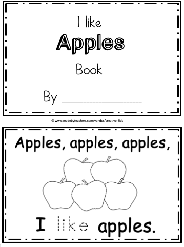 Free Apples Fill-in the blanks Mini-BookThis is a free Apples fill-in-the-blank mini-book. This simple book provides practice writing and reading the word