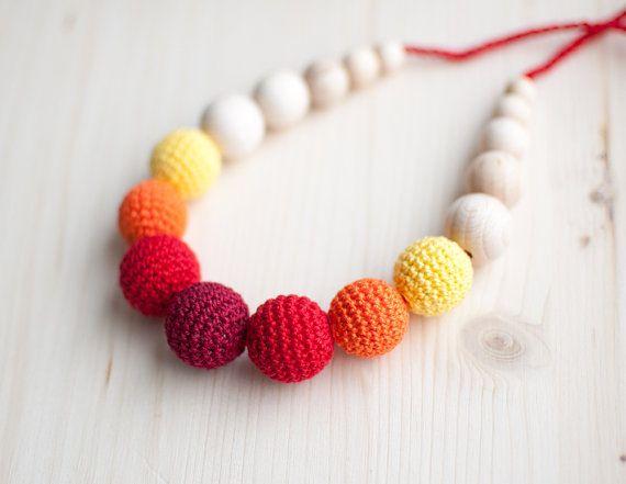 Zahnen Halskette / Crochet Krankenpflege Halskette von SvetlanaN ...
