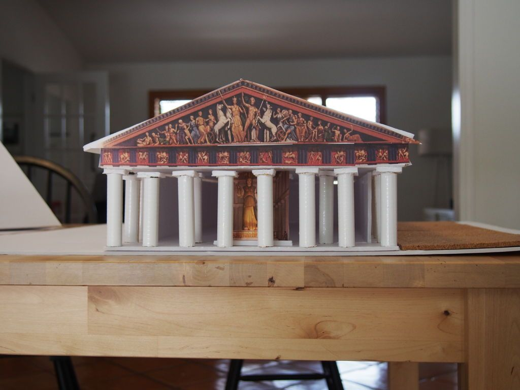 How To Make A To Scale Model Of The Parthenon In Greece